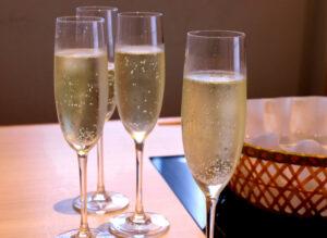 香水亭,六本木,泡,スパークリングワイン,宴会